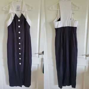 Vintage 90s Button Front Maxi Dress